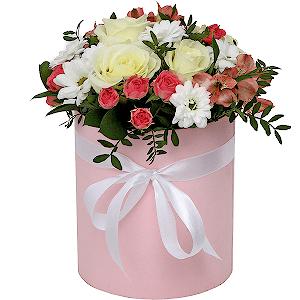 Цветы в шляпной коробке Модница