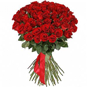 51 красная роза премиум с доставкой в Омске