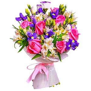 Прекрасный букет +30% цветов с доставкой в Омске
