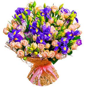 Дизайнерский букет +30% цветов с доставкой в Омске