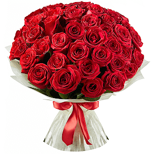 Букет из 51 красной розы с доставкой в Омске