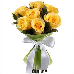 Букет из 7 желтых роз