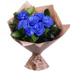 Букет из 7 синих роз